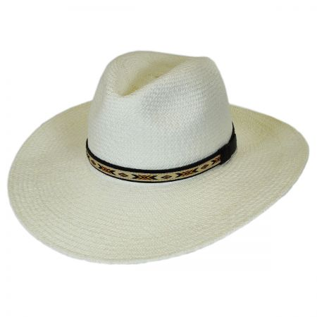 Pantropic Southwest Panama Straw Wide Brim Fedora Hat
