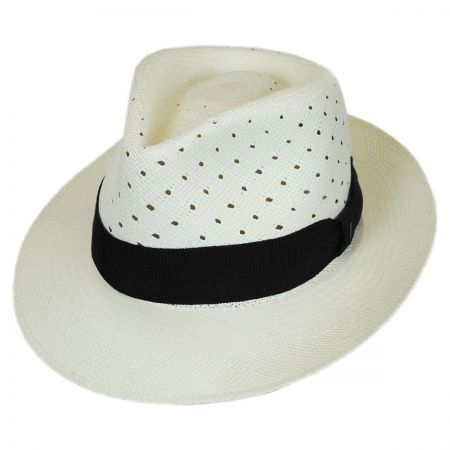 Bailey Alfer Vent Panama Straw Fedora Hat