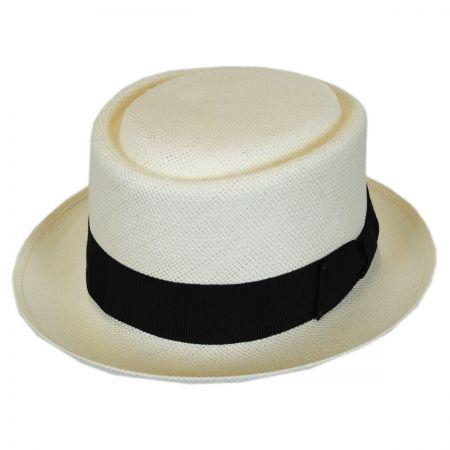 Bailey Larkin Shantung Straw Pork Pie Hat
