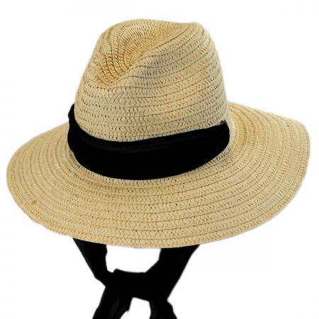 Betmar Sierra Scarf Toyo Straw Fedora Hat