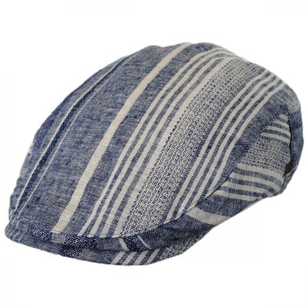 Bailey Edring Striped Linen and Cotton Ivy Cap