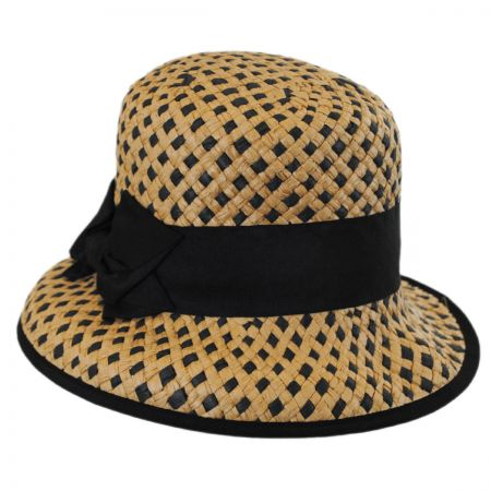 Betmar Bridgitte Toyo Straw Bucket Hat