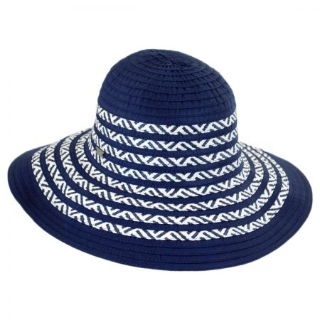 Betmar Corsica Ribbon and Toyo Straw Roller Hat