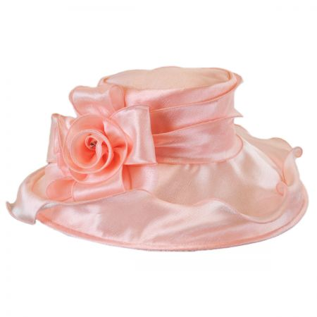 Betmar Edna Satin Ruffle Down Brim Hat