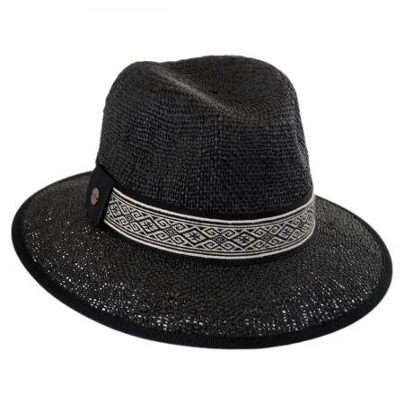 Karen Kane Jacquard Band Toyo Straw Fedora Hat