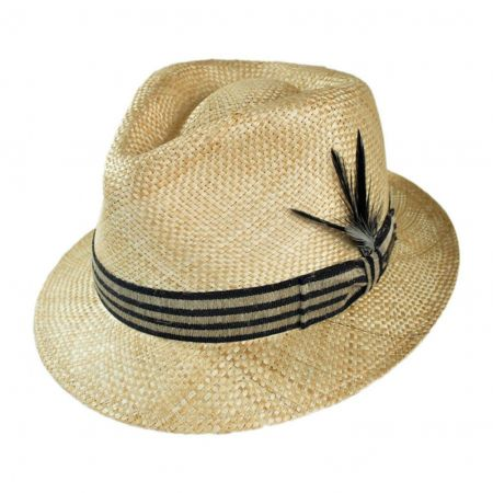 Bailey Zanzibar Teardrop Crown Straw Fedora