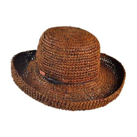 Betmar Raffia Brim Roller Sun Hat