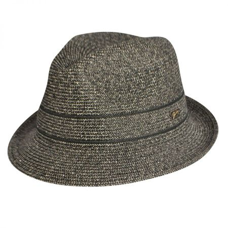 Bailey Greyson Braid Center Dent Fedora Hat