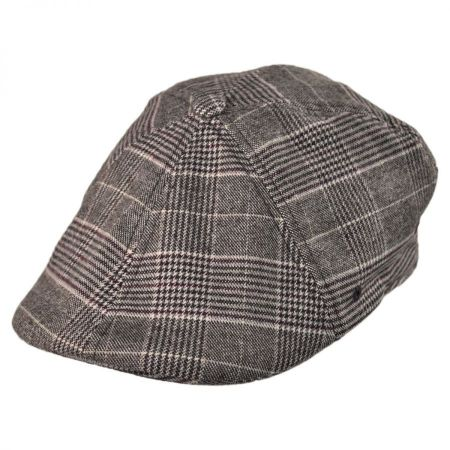 Kangol Brushed Plaid 504 Newsboy Cap