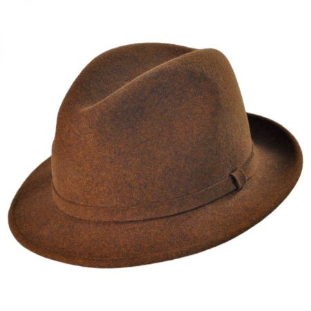 Pantropic Charlie Wool LiteFelt Fedora Hat