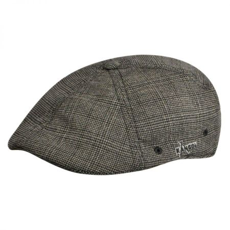 Kangol Chrome Plaid Flex Fit Ivy Cap