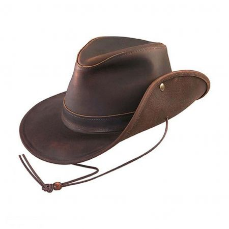 Aussie Oiled Leather Hat - 2X