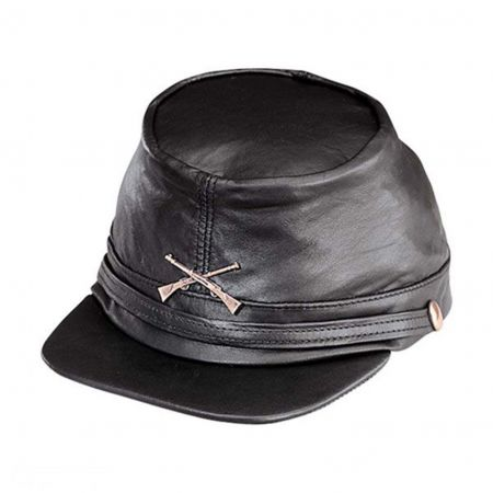 Kepi-Civil War Leather Cap