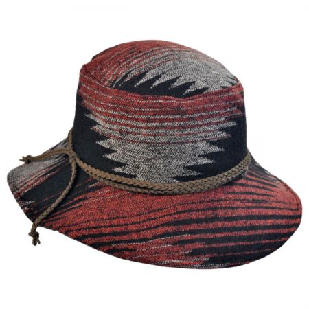 San Diego Hat Company Geo Braided Trim Floppy Hat
