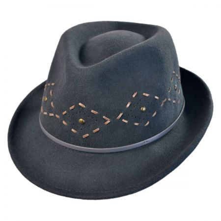 San Diego Hat Company Diamond Stitch Fedora Hat