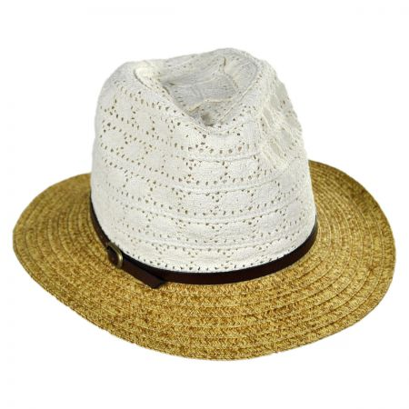 San Diego Hat Company Lace Crown Fedora Hat