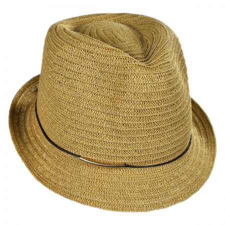 San Diego Hat Company Gold Bar Trim Fedora Hat