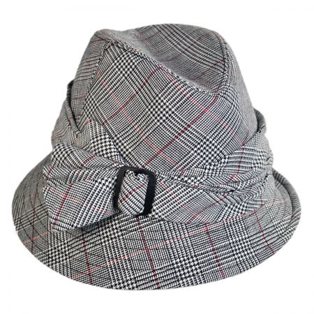 San Diego Hat Company - Assymetrical Plaid Fedora Hat