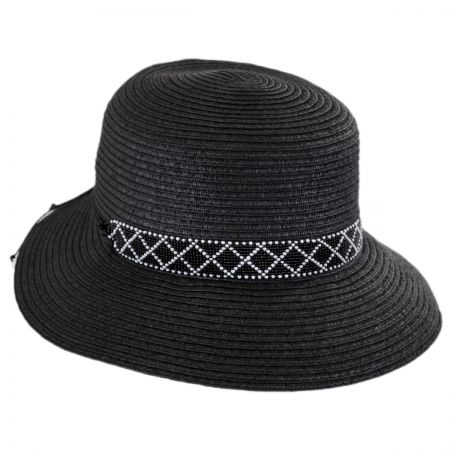Physician Endorsed Diamante Toyo Straw Cloche Hat