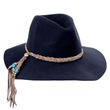 ale by Alessandra Gaucho Suede Floppy Fedora Hat