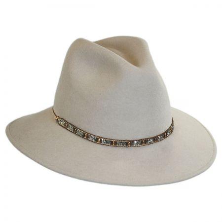 Gottex Moonlight Wool Felt Safari Fedora Hat