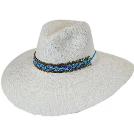 ale by Alessandra Neri Toyo Straw Wide Brim Fedora Hat
