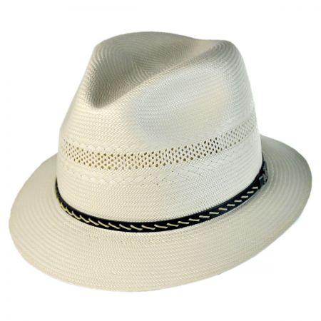 Biltmore Boardwalk Genuine Shantung Fedora Hat