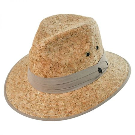 Jaxon Hats Cork Safari Fedora Hat