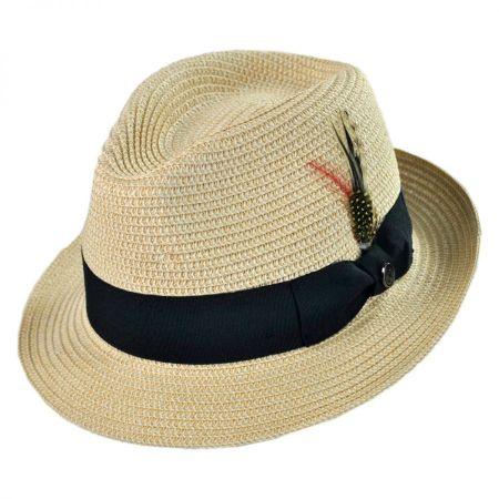 Jaxon Hats Toyo Straw Braid Trilby Fedora Hat 9774402f6