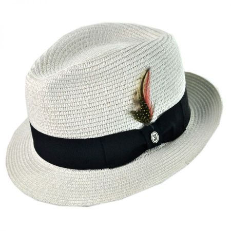 Jaxon Hats Toyo Straw Braid Trilby Fedora Hat