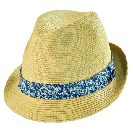 EK Collection by New Era Thea Toyo Straw Trilby Fedora Hat