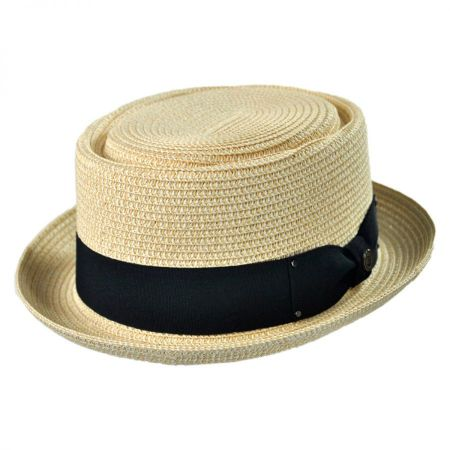 Jaxon Hats Toyo Braid Pork Pie Hat