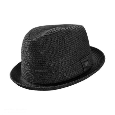 Black Straw Fedora at Village Hat Shop 0446939c6