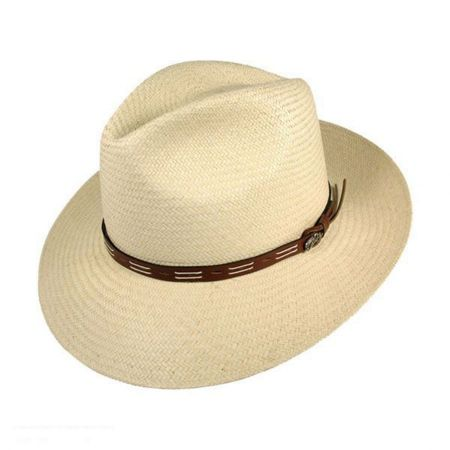 Bailey Cutler Panama Straw Fedora Hat