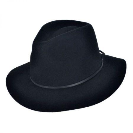 Wesley Wool Felt Floppy Fedora Hat