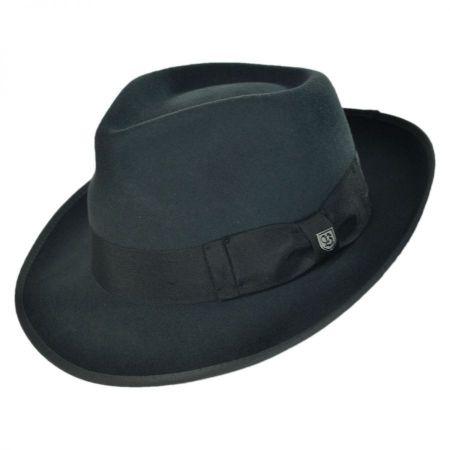 Brixton Hats Elijah Wool Felt Classic Fedora Hat