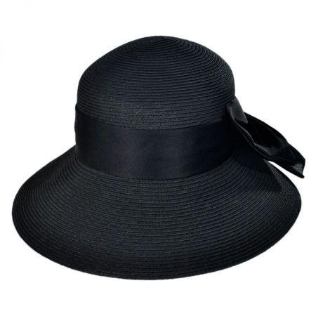 Big Bow Toyo Straw Lampshade Hat