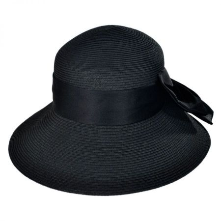 Karen Keith Big Bow Toyo Straw Lampshade Hat
