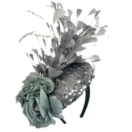 Emma B by Giovannio Feathered Flower Fete Fascinator Hat