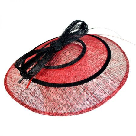 Striped Fascinator Hat