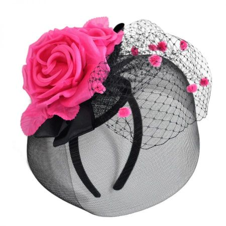 Emma B by Giovannio Delux Rose Fascinator