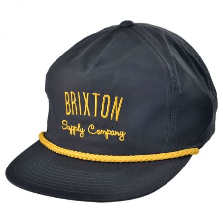 Brixton Hats Carbon Snapback Baseball Cap
