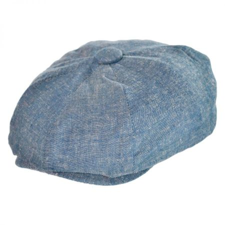 San Diego Hat Co. Chambray Newsboy Cap