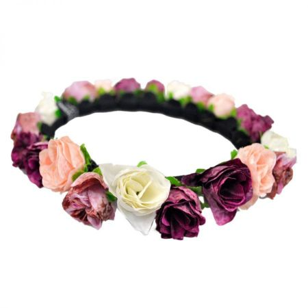 Jeanne Simmons Roses Headband and Hat Band