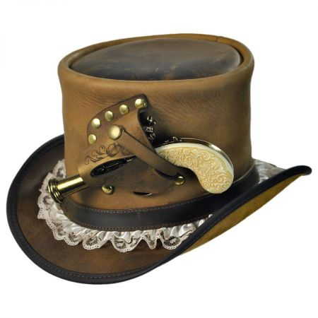 Head 'N Home Pistol Leather Top Hat