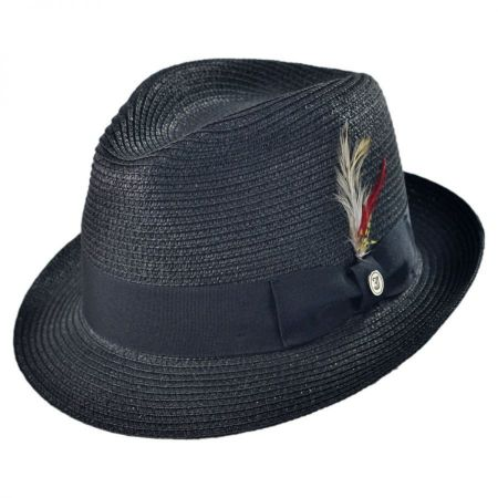 B2B Jaxon Toyo Straw Braid Fedora Hat