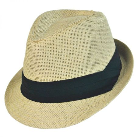 Jeanne Simmons Kid's Toyo Straw Classic Fedora Hat