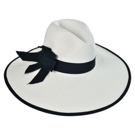 Jeanne Simmons Toyo Straw Wide Brim Fedora Hat
