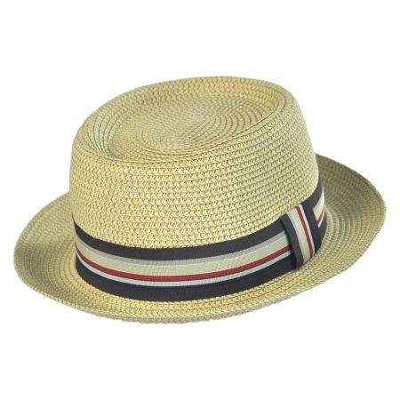 Jeanne Simmons Tweed Toyo Straw Pork Pie Hat