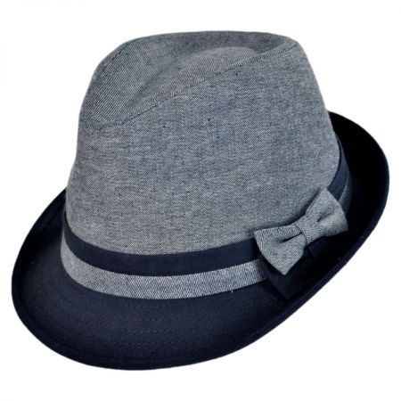 Jeanne Simmons Kids' Double Bow Cotton Blend Fedora Hat